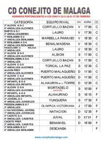 CARTEL PARTIDOS DIAS V-15-S-16-D-17 DE FEBRERO.CASA